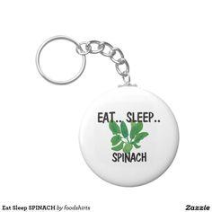Eat Sleep SPINACH Basic Round Button Keychain