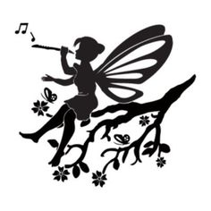 """Style and Apply Little Fairy Wall Decal Size: 31"""" H x 28"""" W, Color: Silver"""