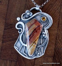 Picasso Jasper and Citrine Gems Jewelry, Heart Jewelry, Stone Jewelry, Metal Jewelry, Pendant Jewelry, Jewelry Sets, Jewelery, Silver Jewelry, Jewelry Necklaces
