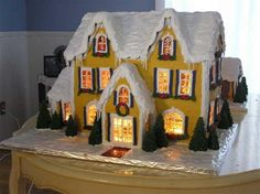 Detailed Instructions for Making a Lighted Gingerbread House - Rock Recipes - Rock Recipes