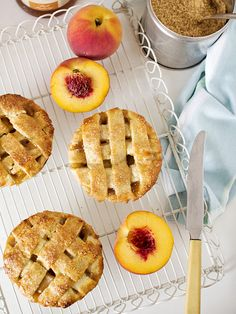 Peach and Bourbon Individual Pies. You can get lost with the recipes in this blog!!