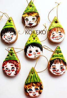 Galletas Navidad 2014 - Elfos de Papá Noel Christmas Cookies 2014 - Santa Claus´ Elves http://www.sweetkokeko.com