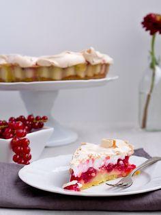 Pradobroty: Rybízový koláč s pudinkem a sněhovou čepicí