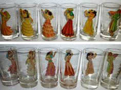 Peek A Boo.  Vintage Federal Barware Glasses. Naughty by decotini, $95.00