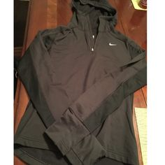 Nike Dri Fit hoodie Like New Nike Dri Fit Half zip hoodie in excellent condition. Has thumb holes. Size small. Nike Jackets & Coats