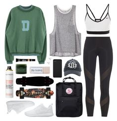 """""""Kanken"""" by sophiehackett ❤ liked on Polyvore featuring NIKE, adidas, Fjällräven, Sephora Collection, Aveda, Incase, MAKE UP FOR EVER and Jennifer Meyer Jewelry"""