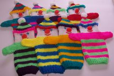 2013 Send in the Clowns Crochet Toys Patterns, Craft Patterns, Stuffed Toys Patterns, Knitting Patterns, Knitting Ideas, Glove Puppets, Hand Puppets, Finger Puppets, Christmas Shoebox
