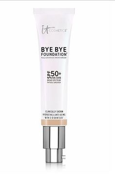 BYE BYE FOUNDATION by i.t. cosmetics covers everything from extreme redness to freckles to scars to tattoos. It's like the new theatre makeup.