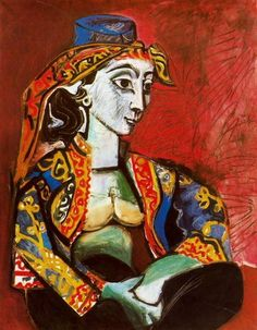 Picasso - Jacqueline Roque in Turkish costume.