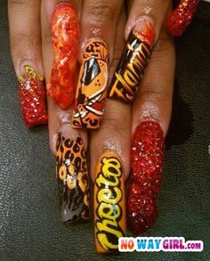 I think I love Cheetos enough to warrant getting my nails done like this