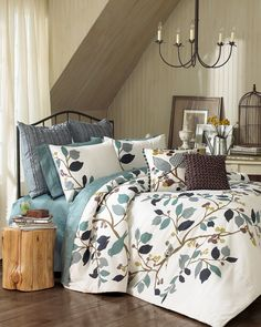 Love this Ellery Homestyles Vue Paradiso Reversible Comforter Set by on Bedroom Comforter Sets, Camas King, Beautiful Bedrooms, Bed Spreads, Comforters, Bedroom Decor, House Design, Interior Design, Decoration
