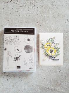 Poppy Cards, Homemade Paint, Stamping Up, Homemade Cards, Stampin Up Cards, Your Cards, Card Making, Happy Birthday, Handmade