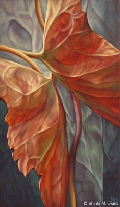 Artodyssey: Sheila M Evans------outstanding art. close up. graceful lines. soft blended effect.