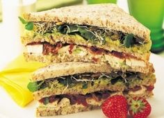 Avocado and Chicken Club Sandwich   Recipes   Eat Well   Best Health