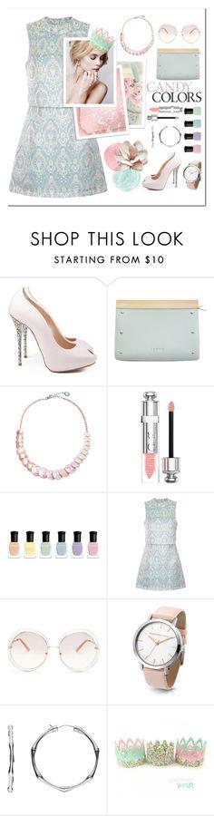 """Pastels"" by kiwipeach ❤ liked on Polyvore featuring Loewe, Antica Murrina, Christian Dior, Deborah Lippmann, Lavish Alice, Chloé, Gucci and pastels"