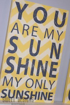 You Are My Sunshine Sign By Sweet Designs Boutique eclectic artwork