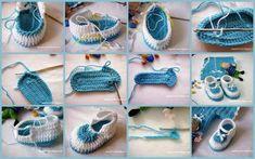 www.fazer crochet.com | veja que lindo sapatinho de bebe passo a passo foto divulgacao