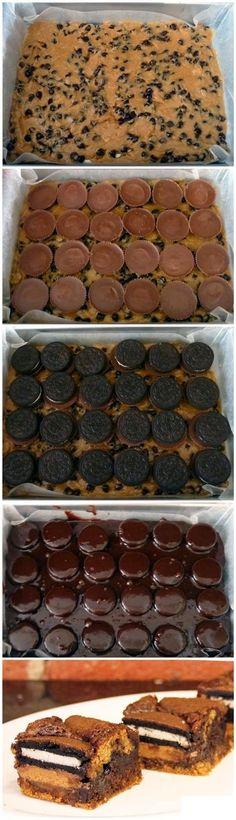 ULTIMATE Slutty Oreo brownies