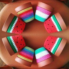 Ideas For Crochet Decoracion Macetas Crochet Toys, Knit Crochet, Knitting Patterns, Crochet Patterns, Stoff Design, Crochet Cactus, Knit Basket, Crochet Bookmarks, Crochet Cushions