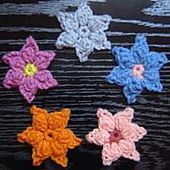 Ravelry: Star Flower Crochet Pattern pattern by JTcreations...thanks for the free pattern!