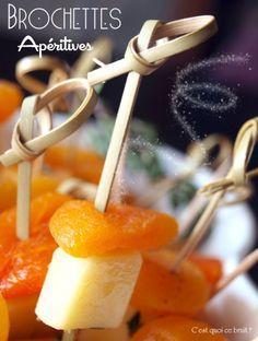 Brochettes abricot sec comté, idéal pour les apéritifs de fêtes #apéro #apéritif #Amuse-Bouche #Appetizer #recette