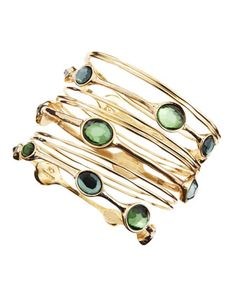 R.J. Graziano - Multi-Bangle Set, Green - Last Call By Neiman Marcus