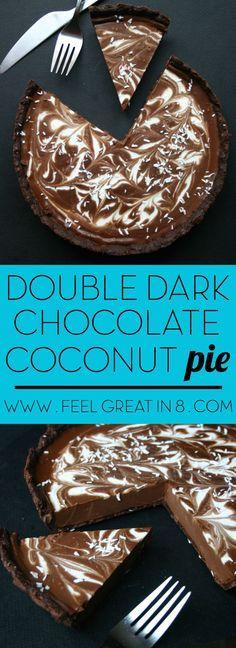 Dark chocolate coconut cake.