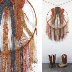 Huge Macrame Dreamcatcher Textile Wall Art