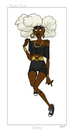 "A ""hipster"" version of Storm, art by Nate Bellegarde. im dyin on this one fi real"