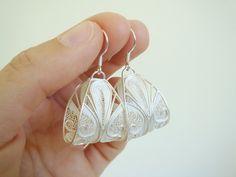 Big Silver Earrings - handmade filigree. $88.00, via Etsy.