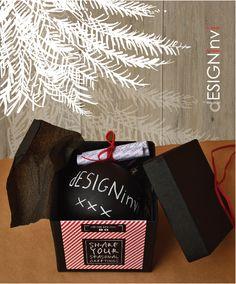 Boxed ornament with set of by dESIGNinvi Ornament Box, Xmas Ornaments, Chalkboard, Seasons, Christmas, Boxes, Ideas, Yule, Chalk Board