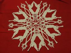 I have had a few people ask about patterns for snowflakes. I don't use a pattern, I draw each one out differently, but I scanned one before I cut it out. Here is the PDF file snowflake pattern see. Making Paper Snowflakes, Christmas Snowflakes, Christmas Deco, All Things Christmas, Diy Snowflakes, Easy Snowflake, Kirigami, Holiday Crafts, Holiday Fun