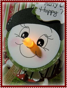 Dragonfly Designs: Tea light snowman ornament...