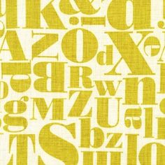Patty Young - Just My Type - Letterpress in Mustard