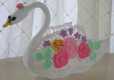 PDF Crochet Pattern-cigno regina centrotavola di BellaCrochet