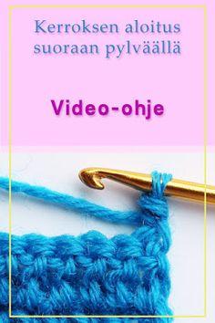 Ristiin rastiin: Kerroksen aloitus suoraan pylväällä, video-ohje Diy Projects To Try, Knit Crochet, Crochet Blogs, Handicraft, Ravelry, Crochet Necklace, Weaving, Knitting, Crafts