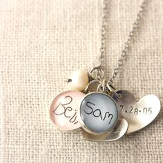 Upgrade to YOUR CHILD'S Signature 12 mm charm by J4JCharms on Etsy