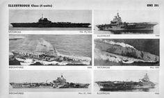 Royal Navy Illustrious Class Aircraft Carriers.