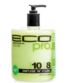 Ecoco Eco Styler | Eco Pro Cream Styling Gel Infuse N Curl - PaksWholesale Curly Hair Treatment, Hair Treatments, Natural Hair Care, Natural Hair Styles, Baby Hair Gel, Eco Styler Gel, Wash And Go, Mane Attraction, Going Natural