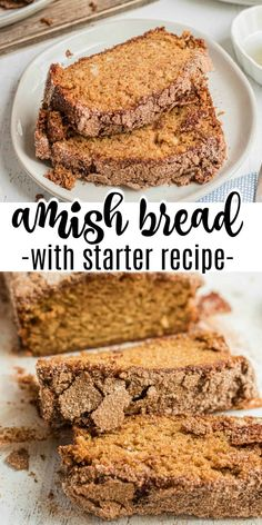 A delicious Amish Friendship Bread recipe covered in a cinnamon sugar mix. The starter recipe is included so you can share with friends! Recipe For Friendship Bread Starter, Amish Bread Starter, Amish Friendship Bread, Cinnamon Bread, Amish Banana Bread Recipe, Amish Bread Recipes, Best Bread Recipe, Baking Recipes