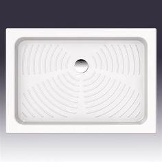 Brusekar med høj kant   Leda 100x70 rektangulært → Køb  DESIGN4HOME #brusekar #brusebund #badeværelse Design