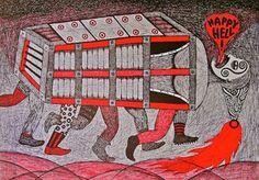 Tekanan Batin #65 / Suppression #65.Bolpoin On Paper, 27 cm X 39 cm, 2011