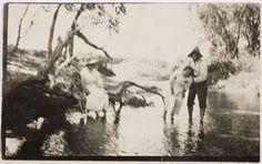 river baptism, c. 1910
