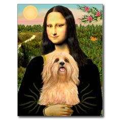 Mona Lisa looks much better with a Lhasa Apso :)