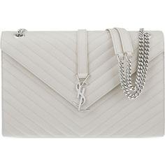 6622517fe9 SAINT LAURENT Monogram large quilted leather shoulder bag ( 2
