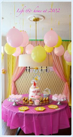 love the balloon idea  A Baby Shower on a Budget