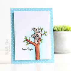 The Card Grotto: Bear Hugs. Bear Hugs stamp set from Reverse Confetti.
