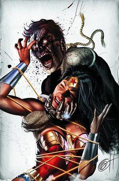 Wonder Woman vs Black Lantern by Greg Horn