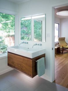 Trough sink w/ double faucets (for small kids bathroom)