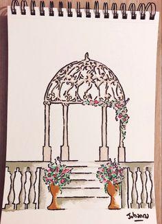#weddingdecor #weddinginspiration #weddingdesign #ceremonielaique #ceremonie #decorationmariage Wedding Designs, Wedding Decorations, Cherry, Wedding Inspiration, Furniture, Home Decor, Sketch, Weddings, Flowers